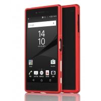 Металлический двухкомпонентный сборный бампер для Sony Xperia Z5 Красный