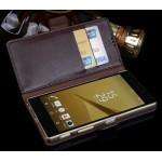 Кожаный чехол портмоне подставка (нат. кожа) для Sony Xperia Z5 Premium
