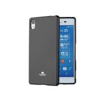 Жесткий силиконовый чехол с глянцевым покрытием для Sony Xperia Z5 Premium Черный