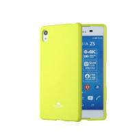 Жесткий силиконовый чехол с глянцевым покрытием для Sony Xperia Z5 Premium Зеленый