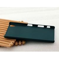 Пластиковый матовый Металлик чехол для Sony Xperia Z5 Premium Зеленый