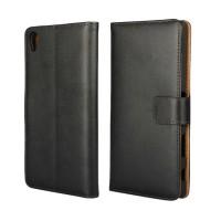 Чехол портмоне подставка с магнитной защелкой на пластиковой основе для Sony Xperia Z5 Premium Черный
