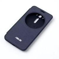 Встраиваемый чехол флип с фирменным круглым окном вызова для ASUS Zenfone 2 Laser 5 ZE500KL Синий