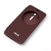 Встраиваемый чехол флип с фирменным круглым окном вызова для ASUS Zenfone 2 Laser 5.5 ZE550KL Бордовый