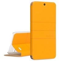 Текстурный чехол флип подставка на присоске и пластиковой основе дизайн Полосы для ZTE Blade X5 Желтый
