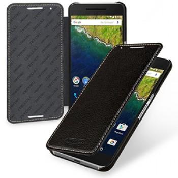 Кожаный чехол горизонтальная книжка (нат. кожа) для Google Huawei Nexus 6P