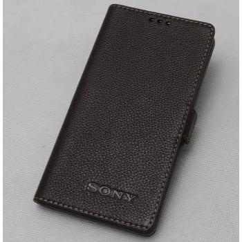 Кожаный чехол-портмоне для Sony Xperia M2 dual