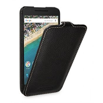 Кожаный чехол вертикальная книжка (нат. кожа) для Google LG Nexus 5X