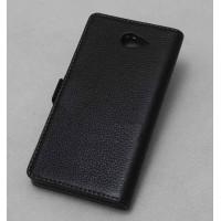 Кожаный чехол-портмоне для Sony Xperia M2 dual Черный