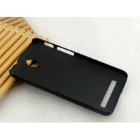 Пластиковый матовый металлик чехол для ASUS Zenfone C Черный