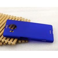 Пластиковый матовый металлик чехол для Microsoft Lumia 950 XL Синий