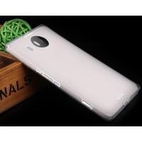 Силиконовый матовый полупрозрачный чехол для Microsoft Lumia 950 XL Белый
