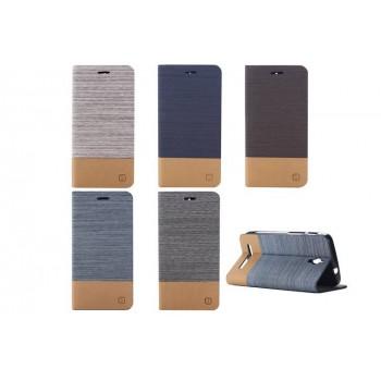Дизайнерский чехол флип подставка на силиконовой основе с тканевым покрытием с внутренним карманом для ASUS Zenfone C