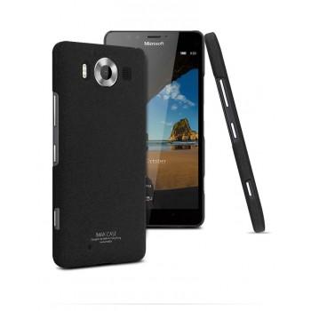 Пластиковый матовый чехол с повышенной шероховатостью для Microsoft Lumia 950