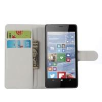 Чехол портмоне подставка с защелкой для Microsoft Lumia 950 Белый