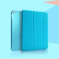 Чехол смартфлип подставка сегментарный на полупрозрачной поликарбонатной основе для Ipad Mini 4 Голубой