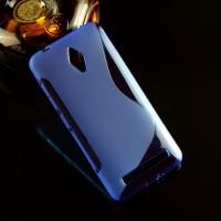 Силиконовый S чехол для ASUS Zenfone Go Синий