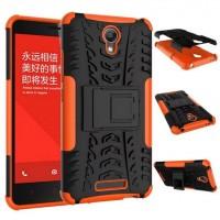 Антиударный гибридный чехол экстрим защита силикон/поликарбонат для Xiaomi RedMi Note 2 Оранжевый