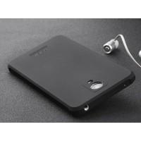 Антиударный нанотонкий 0.8 мм силиконовый матовый непрозрачный усиленный чехол для Xiaomi RedMi Note 2 Черный