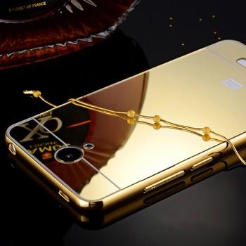 Гибридный металлический двухкомпонентный чехол с поликарбонатной крышкой с зеркальным покрытием для Xiaomi RedMi Note 2