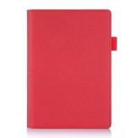 Чехол подставка с рамочной защитой экрана и внутренними отсеками для Lenovo Yoga Tab 3 8 Красный