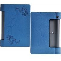 Текстурный чехол подставка с рамочной защитой и принтом для Lenovo Yoga Tab 3 8 Синий