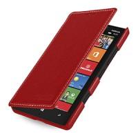 Кожаный чехол книжка горизонтальная (нат. кожа) для Nokia Lumia 930 красная