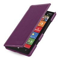 Кожаный чехол книжка горизонтальная (нат. кожа) для Nokia Lumia 930 фиолетовая