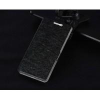 Текстурный чехол флип подставка на пластиковой основе с магнитной застёжкой для ZTE Blade X9 Черный