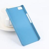 Пластиковый матовый чехол с повышенной шероховатостью для BQ Aquaris M5 Голубой