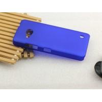 Пластиковый матовый металлик чехол для Microsoft Lumia 550 Синий