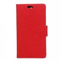 Чехол портмоне подставка на силиконовой основе с защелкой для Microsoft Lumia 550 Красный