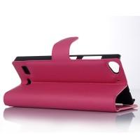Чехол портмоне подставка с защелкой для Lenovo Vibe X2 Пурпурный