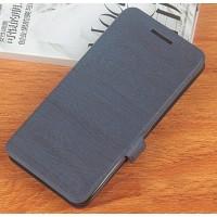 Чехол флип подставка на силиконовой основе текстура Дерево для Philips Xenium V787 Синий