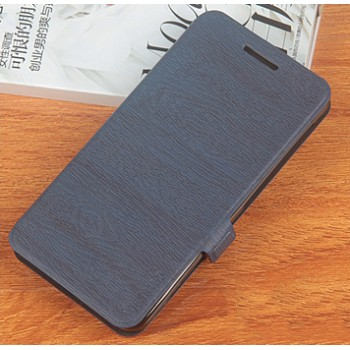Чехол флип подставка на силиконовой основе текстура Дерево для Philips Xenium V787