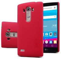 Пластиковый матовый нескользящий премиум чехол для LG G4 S Красный