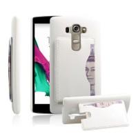 Дизайнерский чехол накладка с отделениями для карт и подставкой для LG G4 S Белый