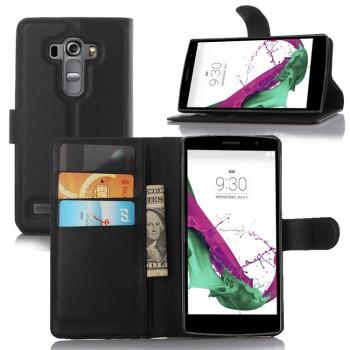 Чехол портмоне подставка на пластиковой основе с магнитной защелкой для LG G4 S