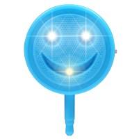 Круглая усиливающая цвет LED-вспышка 200мАч 3 Вт с регулятором яркости дизайн Смайлик для Samsung Galaxy Grand (Duos, GT-I9080, GT-I9082, I9080, i9082)