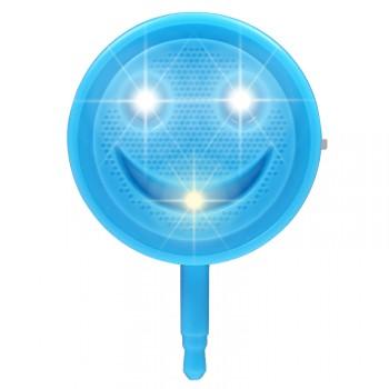 Круглая усиливающая цвет LED-вспышка 200мАч 3 Вт с регулятором яркости дизайн Смайлик