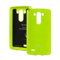 Силиконовый глянцевый непрозрачный чехол для LG G4 S Зеленый