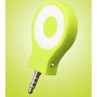 Круглая LED-вспышка 200мАч 3 Вт с регулятором яркости и подключением через аудиоразъем Зеленый
