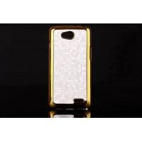 Дизайнерский поликарбонатный чехол текстура Соты для LG L90 Белый