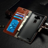 Глянцевый чехол портмоне подставка с защелкой для LG V10