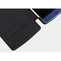 Кожаный чехол флип на пластиковой основе с окном вызова для LG V10 Черный