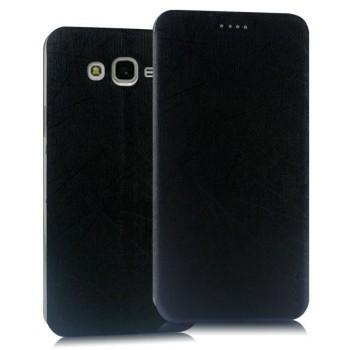 Чехол флип подставка текстура Линии на пластиковой основе на присоске для Samsung Galaxy J7