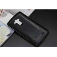 Антиударный гибридный чехол силикон/поликарбонат для LG V10 Черный