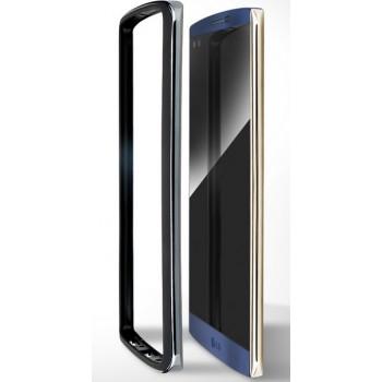 Оригинальный противоударный гибридный бампер силикон/поликарбонат для LG V10