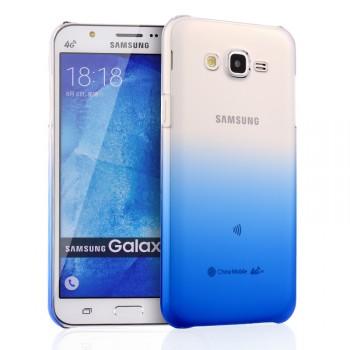 Пластиковый градиентный полупрозрачный чехол для Samsung Galaxy J7