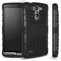 Антиударный гибридный чехол экстрим защита силикон/поликарбонат для LG G3 S Черный